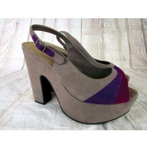 Steve Madden Banor Gray Heel Platforms Shoe Sz 7